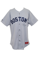 1987 Roger Clemens Boston Red Sox Game-Used & Autographed Road Jersey (JSA • Cy Young Season)