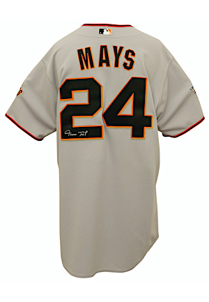 2010 Willie Mays San Francisco Giants Autographed Jersey (World Series Patch)