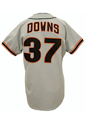 1986 Kelly Downs San Francisco Giants Game-Used Road Jersey