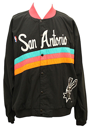 1990s San Antonio Spurs Player-Worn Warm-Up Jacket Attributed To David Robinson