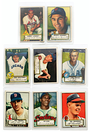 Grouping Of 1952 Topps Baseball (8)