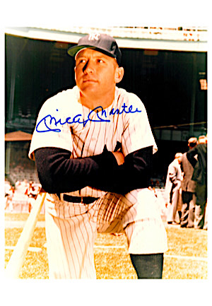 Mickey Mantle & Joe DiMaggio Single-Signed 8x10 Color Photos (2)