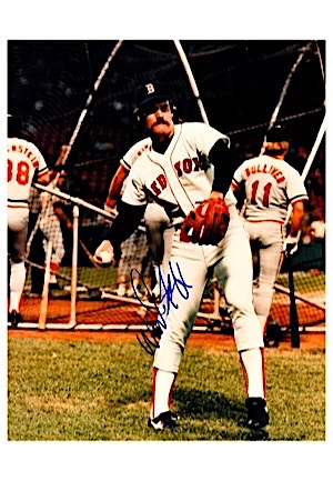 Hall Of Famers & Stars Autographed 8x10 Photos Including Carlton, Mattingly, Brett, Boggs & More (4)