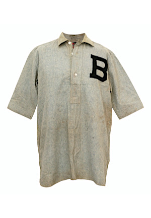 1902 Baltimore Orioles C.B. Burns Game-Used Road Flannel Jersey (Player Family LOA • Earliest Known Example • Graded 9+)