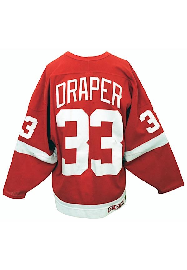 Lot Detail - 1995-96 Kris Draper Detroit Red Wings Playoffs Worn ...