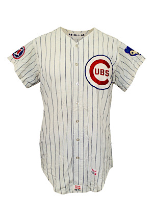 1968 Billy Williams Chicago Cubs Game-Used Home Flannel Jersey (Photo-Matched To 3 Home Run Game • Graded 10)