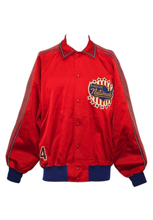 1954-55 Dolph Schayes Syracuse Nationals Player-Worn Jacket (Only One Known • Championship Season • Schayes Family LOA)