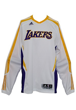 Los Angeles Lakers Long Sleeve Warm-Up Shooting Shirt Attributed To Kobe Bryant