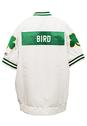 1991-92 Larry Bird Boston Celtics Team-Issued & Autographed Warm-Up Jacket (JSA)