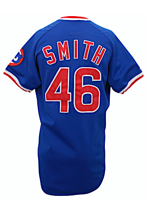 1987 Lee Smith Chicago Cubs Game-Used Jersey