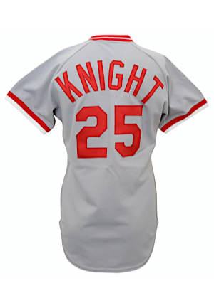 1979 Ray Knight Cincinnati Reds Game-Used Road Jersey