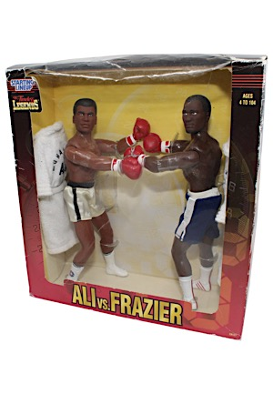 "1998 Muhammad Ali vs. Joe Frazier Starting Lineup ""Timeless Legends"" Collectible Action Figures & Original Box"
