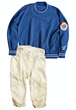 1951 Doak Walker Detroit Lions Sideline-Worn Sweater With Pants (2)(Incredibly Rare 250th Birthday Festival Patch)