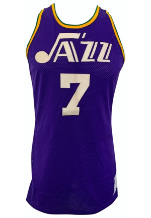 "Circa 1976 ""Pistol"" Pete Maravich New Orleans Jazz Game-Used Road Jersey (Sourced From Team Employee)"