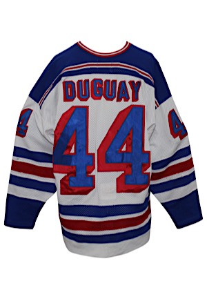Circa 1987 Ron Duguay New York Rangers Game-Used Jersey