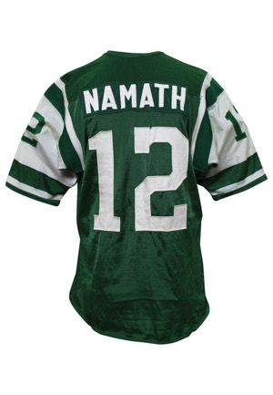 1965 Joe Namath AFL New York Jets Game-Used Durene Rookie Jersey (Multiple Photo-Matches & Graded 10 • Equipment Manager Family LOA)