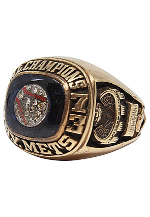 1973 New York Mets National League Championship Ring Presented To Equipment Manager Herb Norman (Family LOA • Rare)