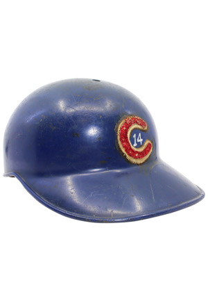 Circa 1969 Ernie Banks Chicago Cubs Game-Used Helmet (Fantastic Example)