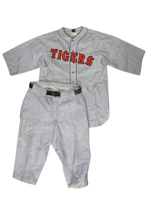 1928 Johnny Neun Detroit Tigers Game-Used Flannel Uniform (2)(Very Rare)
