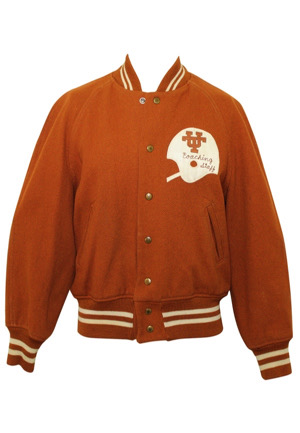 1973 Darrell Royal Texas Longhorns Game-Worn Coachs Jacket (From Historic Cotton Bowl Victory)