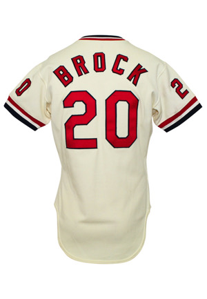 1979 Lou Brock St. Louis Cardinals Game-Used Home Jersey (Final Season)