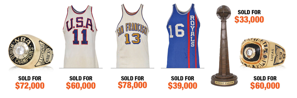 d525721d2b4 With thousands of game worn NBA jerseys, championship rings, trophies and  other basketball memorabilia ...